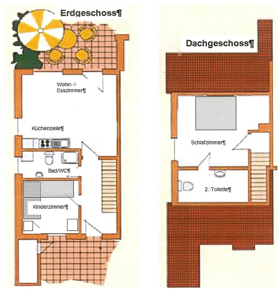 Grundriß Ferienhaus Boltenhagen